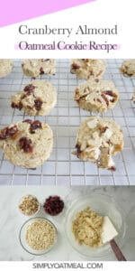 How to make cranberry almond oatmeal cookies