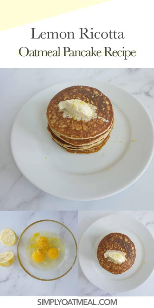 How to make lemon ricotta oatmeal pancakes.