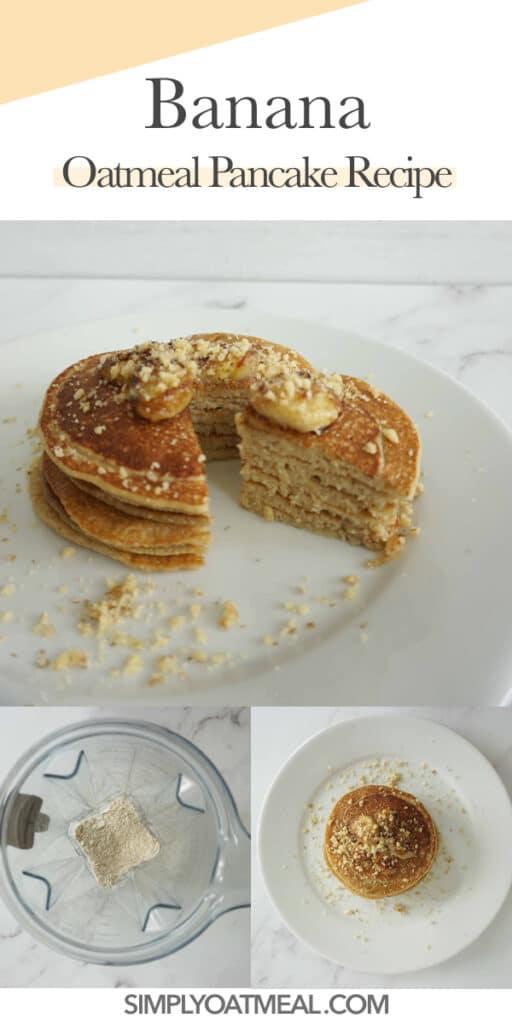 How to make vegan banana oatmeal pancakes.