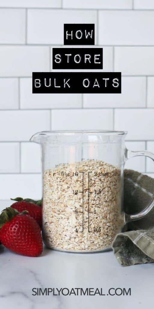 How to store bulk oatmeal