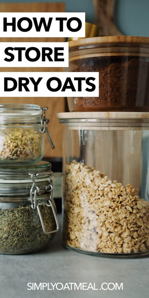 How to store dry oats