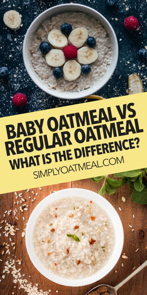 What is the difference between baby oatmeal and regular oatmeal