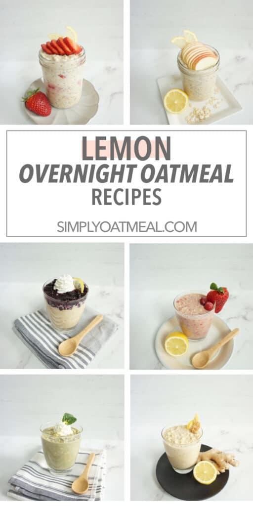 Lemon overnight oats recipes