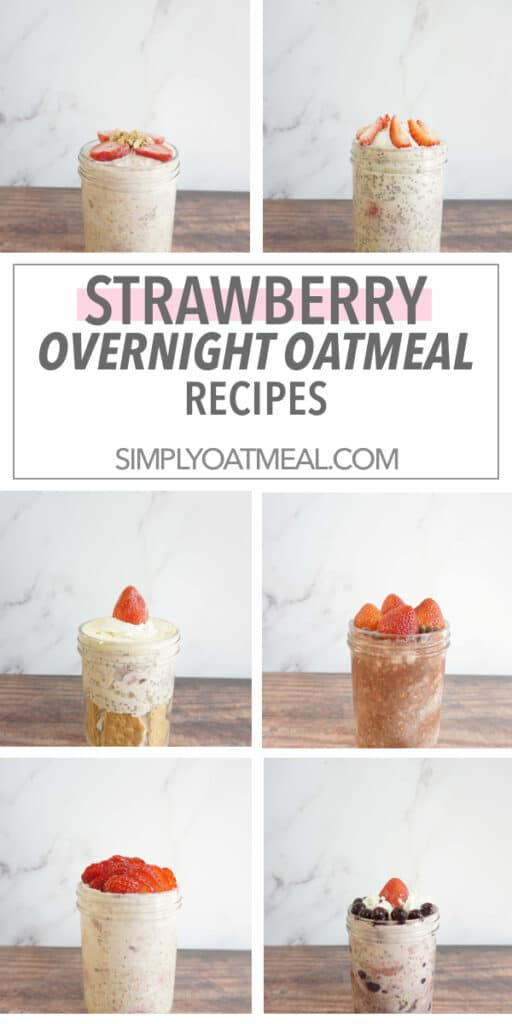 Strawberry overnight oats recipes