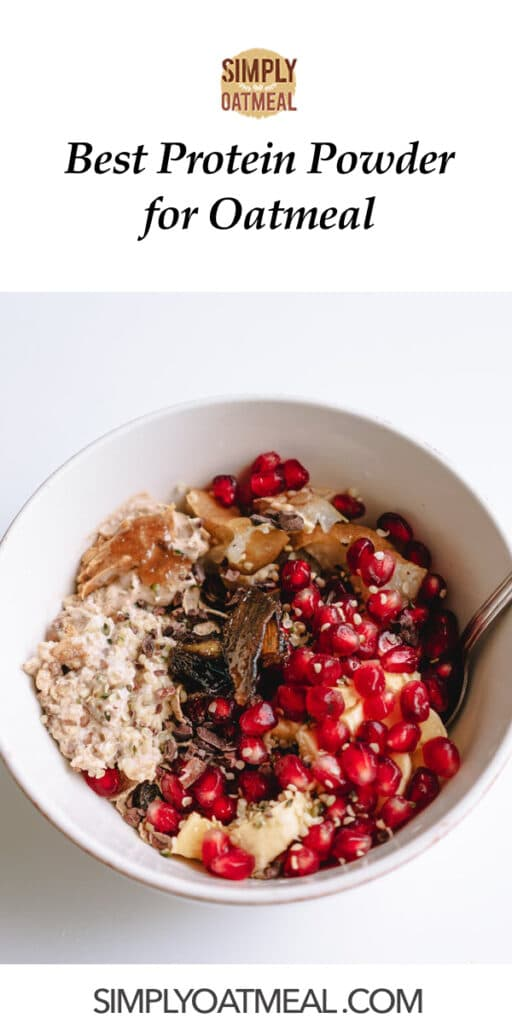 Best protein powder for oatmeal