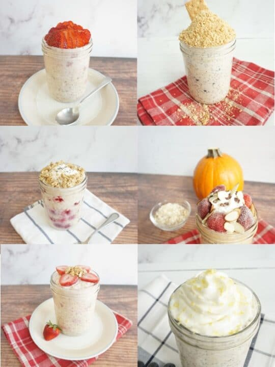 Overnight Oats With Yogurt (Vegan, Gluten Free)