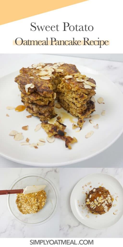 How to make sweet potato oatmeal pancakes