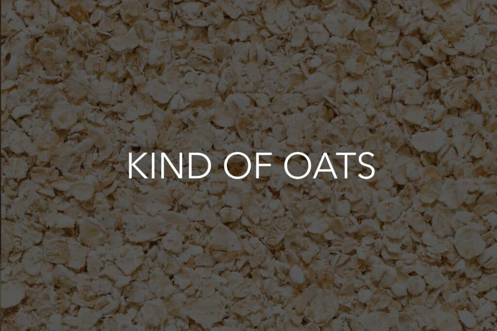 kind of oats