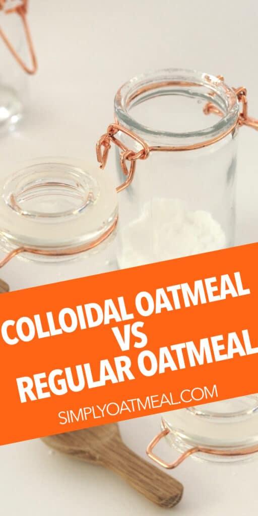 Colloidal oatmeal vs regular oatmeal