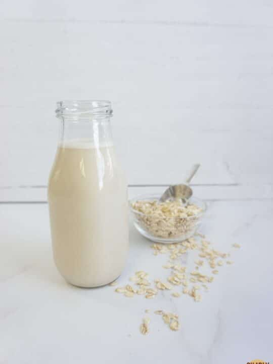 Easy oat milk ready to serve