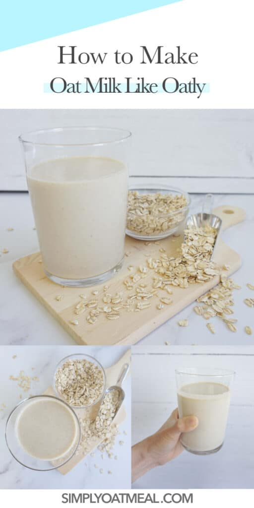 How to make oat milk like oatly with step by step pictures