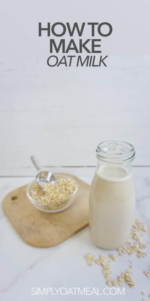 Oat milk in a carafe