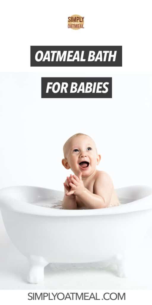 Oatmeal bath for babies