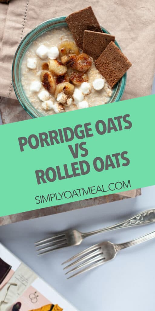 Difference between porridge oats and rolled oats